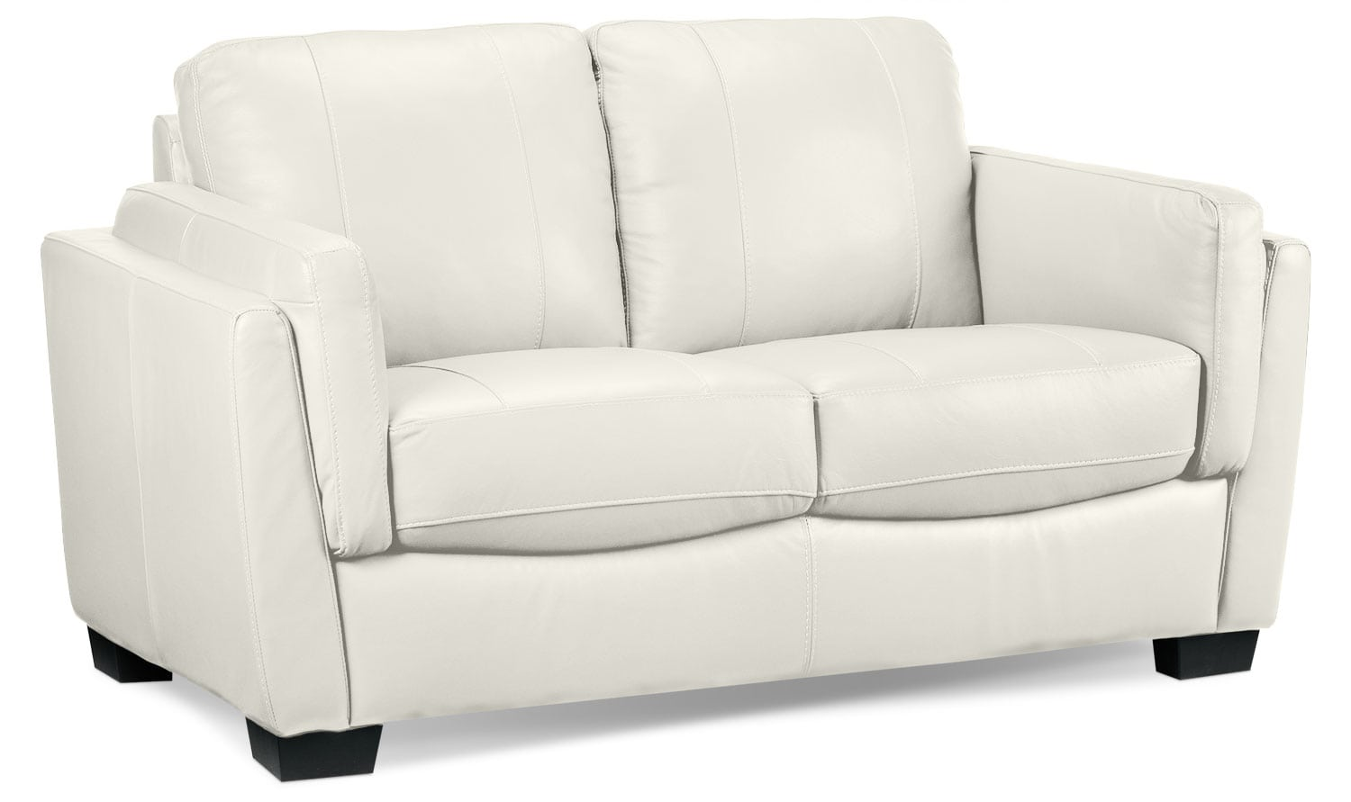 Living Room Furniture - Isadore Loveseat - White