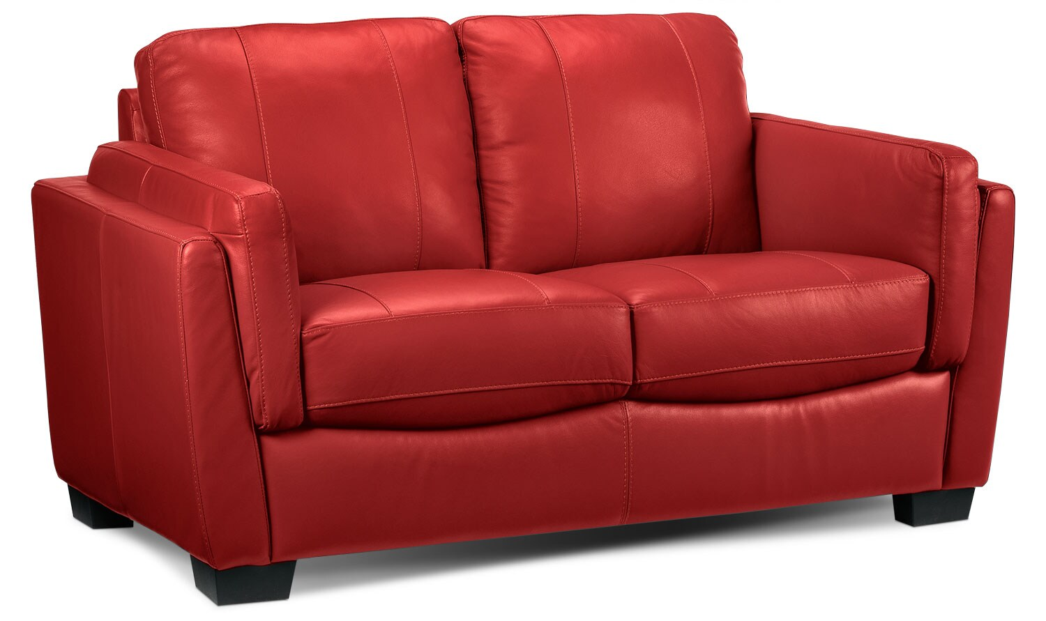 Living Room Furniture - Isadore Loveseat - Red