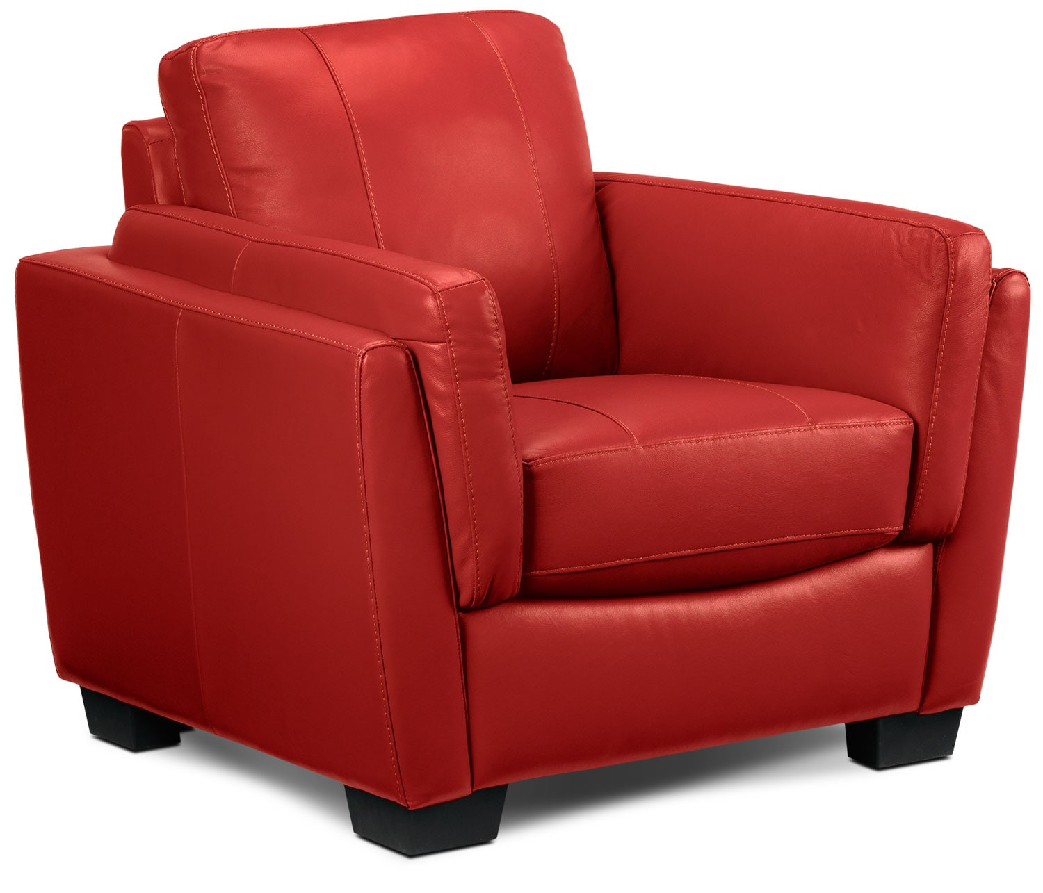 Living Room Furniture - Isadore Chair - Red