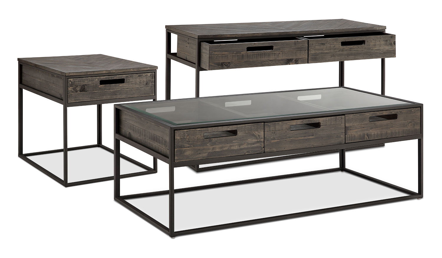 Accent and Occasional Furniture - Calistoga 3-Piece Coffee, End and Sofa Table Package