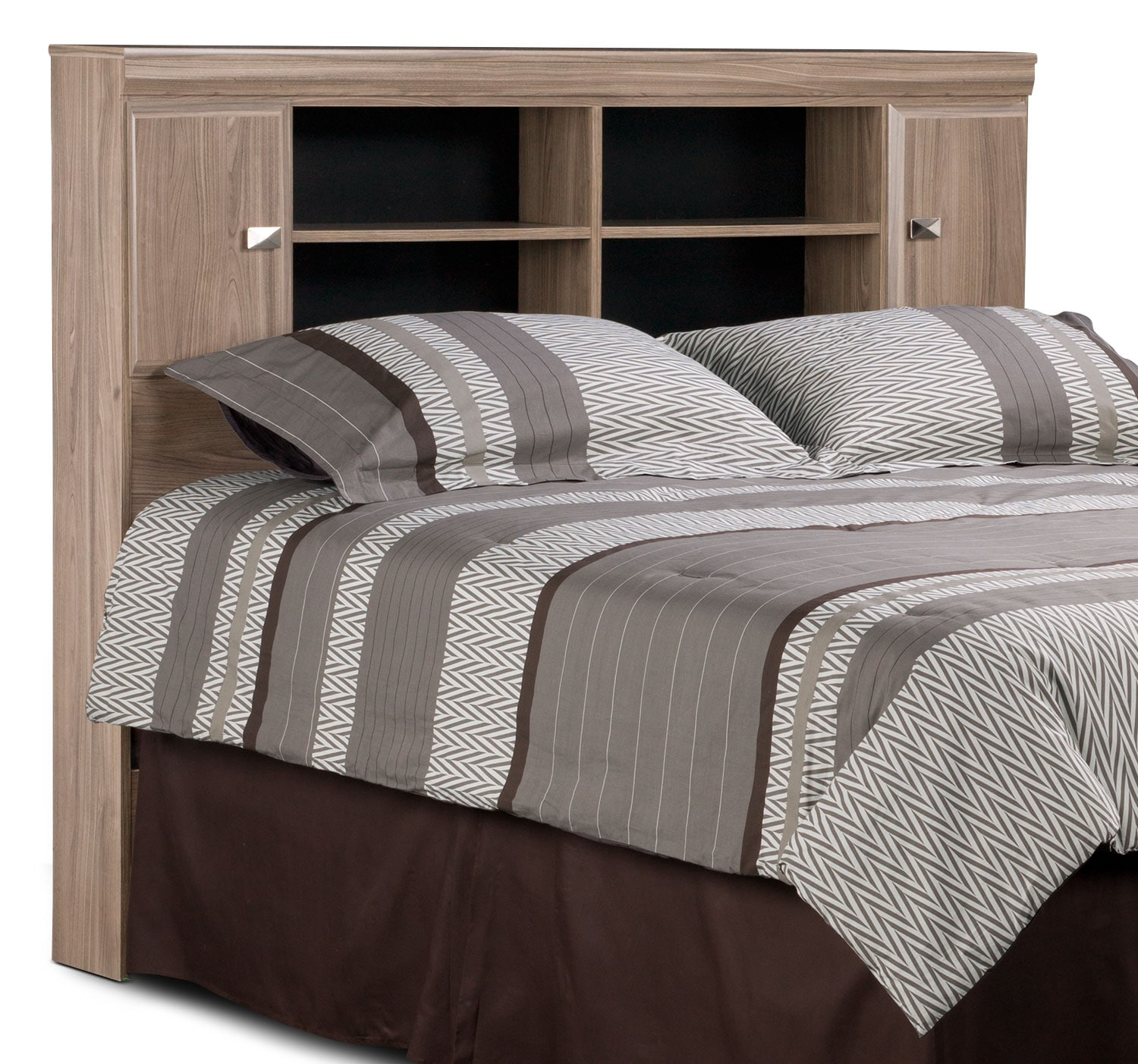 Bedroom Furniture - Yorkdale Light Queen Bookcase Headboard