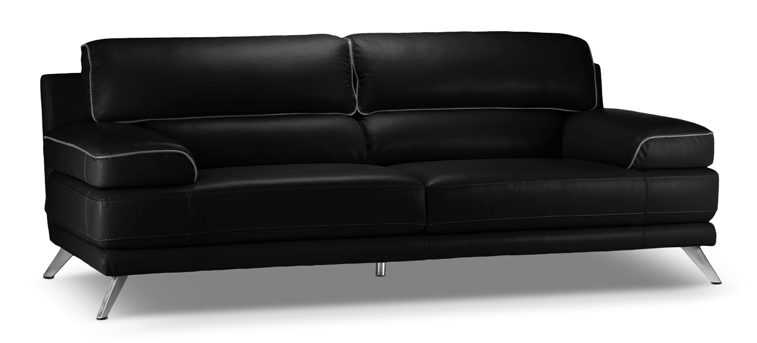 Living Room Furniture - Sutton Sofa - Black