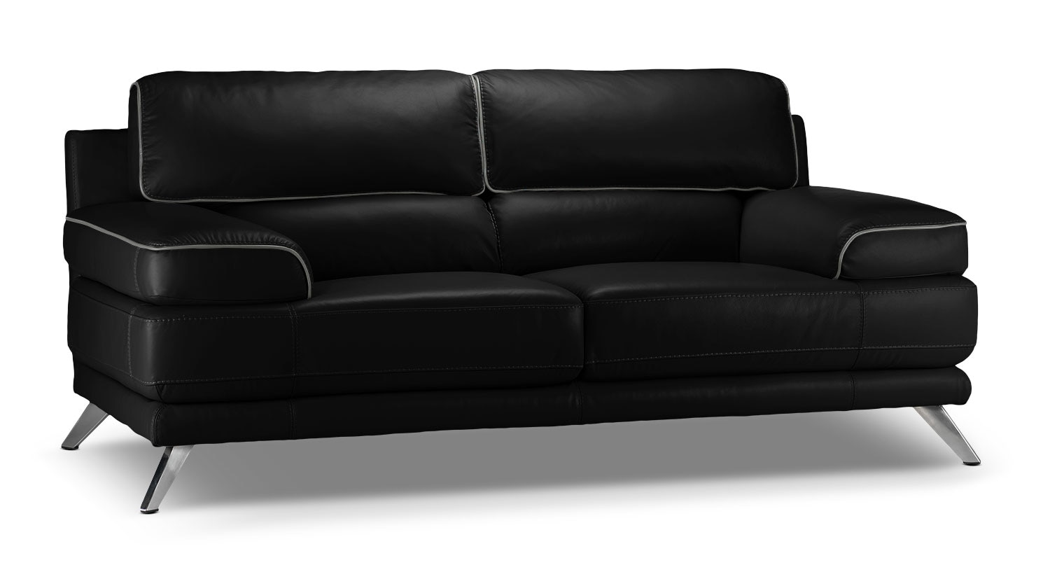 Living Room Furniture - Sutton Loveseat - Black