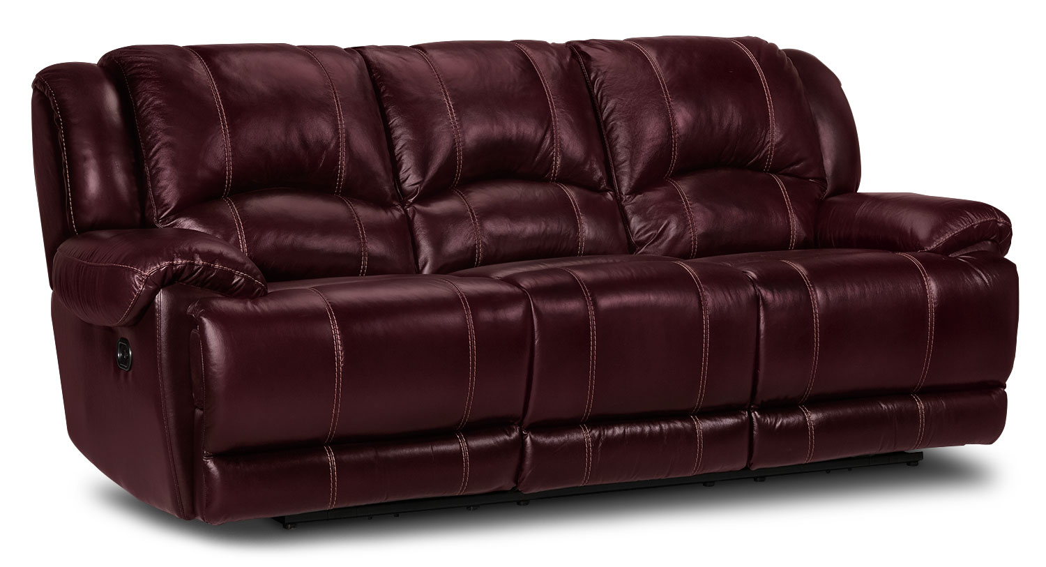 Living Room Furniture - Sinatra Power Reclining Sofa - Red