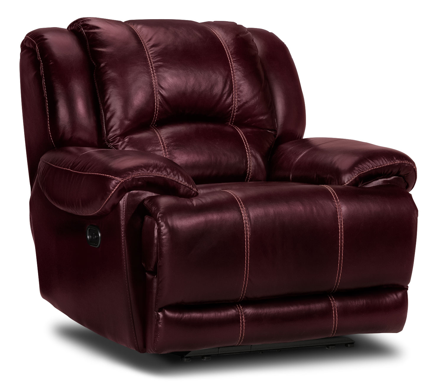 Living Room Furniture - Sinatra Power Recliner - Red