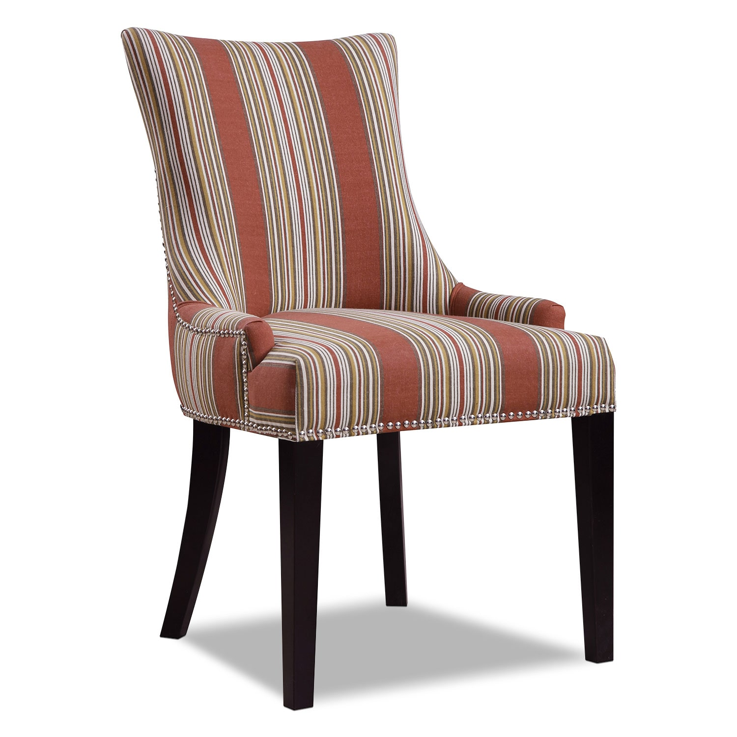Accent Dining Room Chairs: Paige Accent Chair - Striped