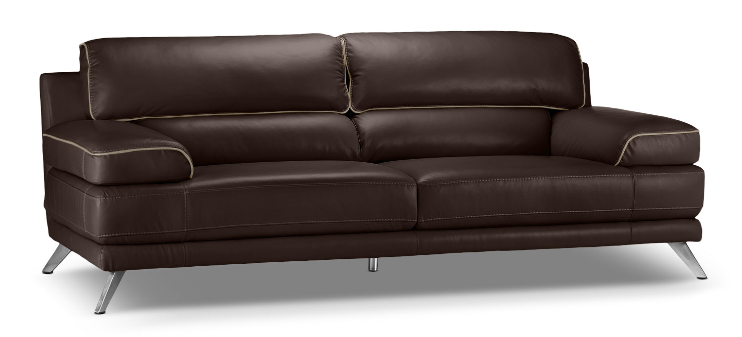 Living Room Furniture - Sutton Sofa - Walnut Brown