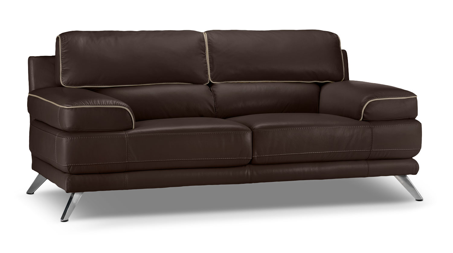 Living Room Furniture - Sutton Loveseat - Walnut Brown