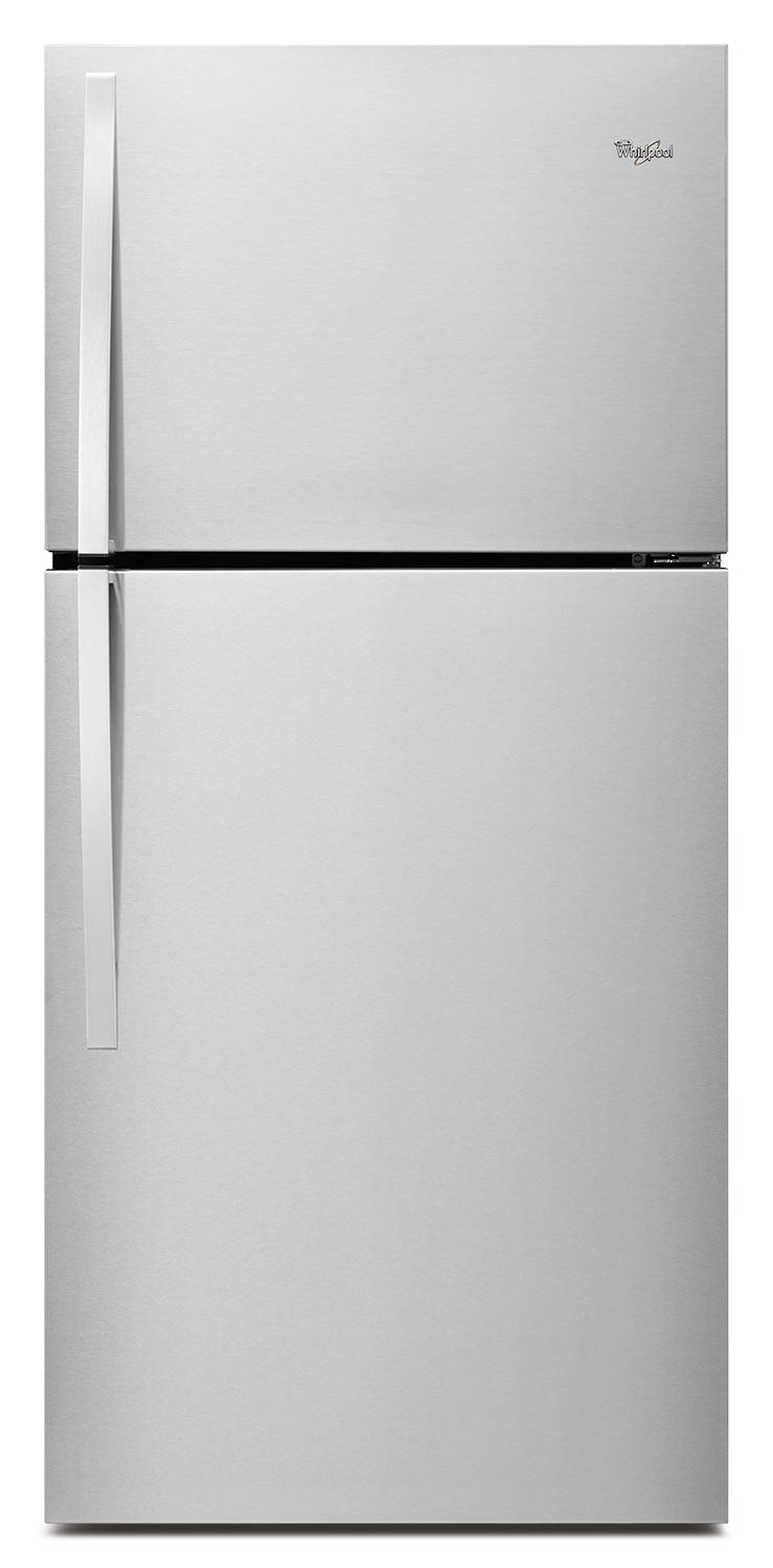 Refrigerators and Freezers - Whirlpool Monochromatic Stainless Steel Top-Freezer Refrigerator (19.2 Cu. Ft.) - WRT519SZDM