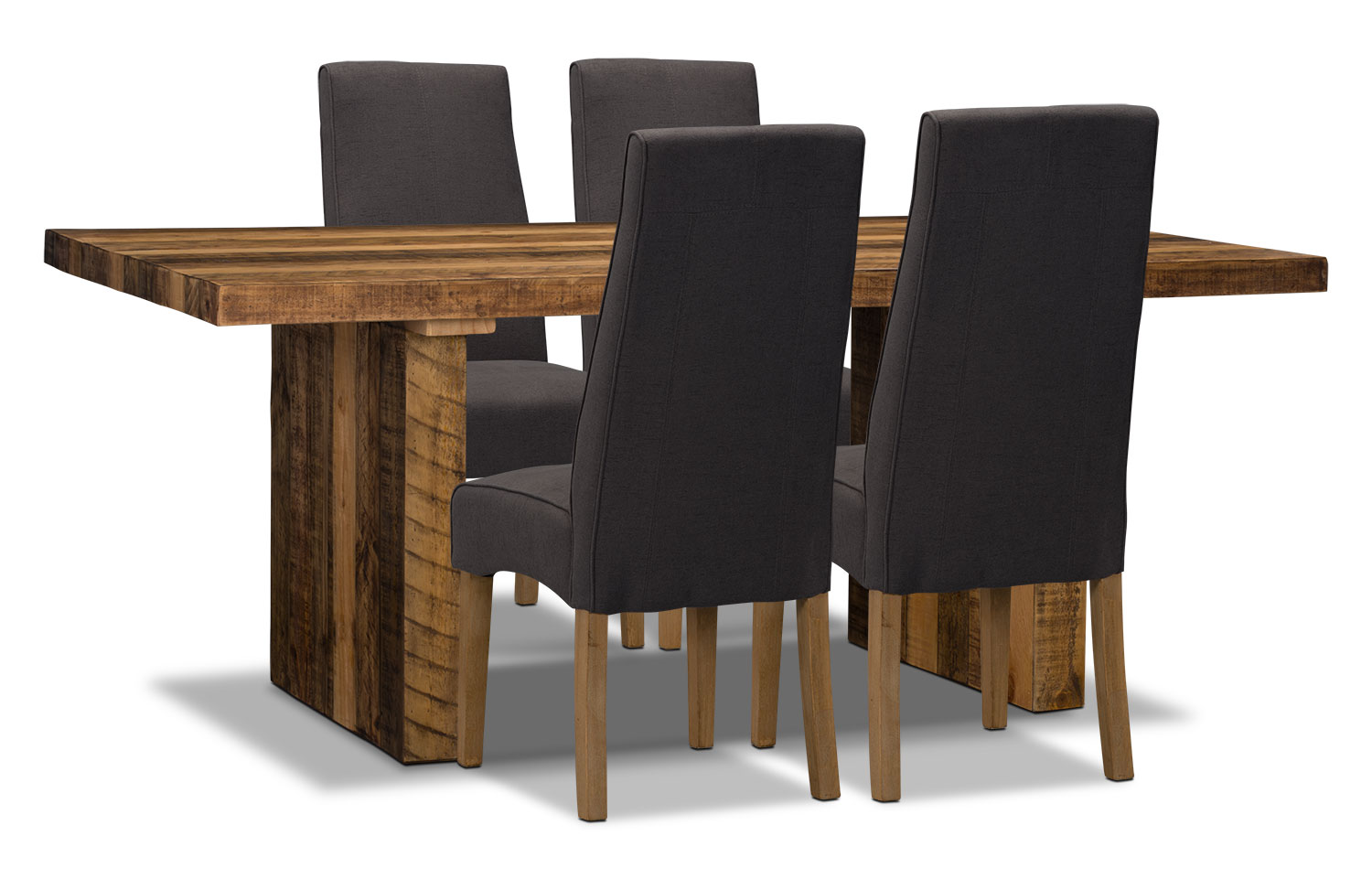 Dining Room Furniture - Colby 5-Piece Dining Package – Grey