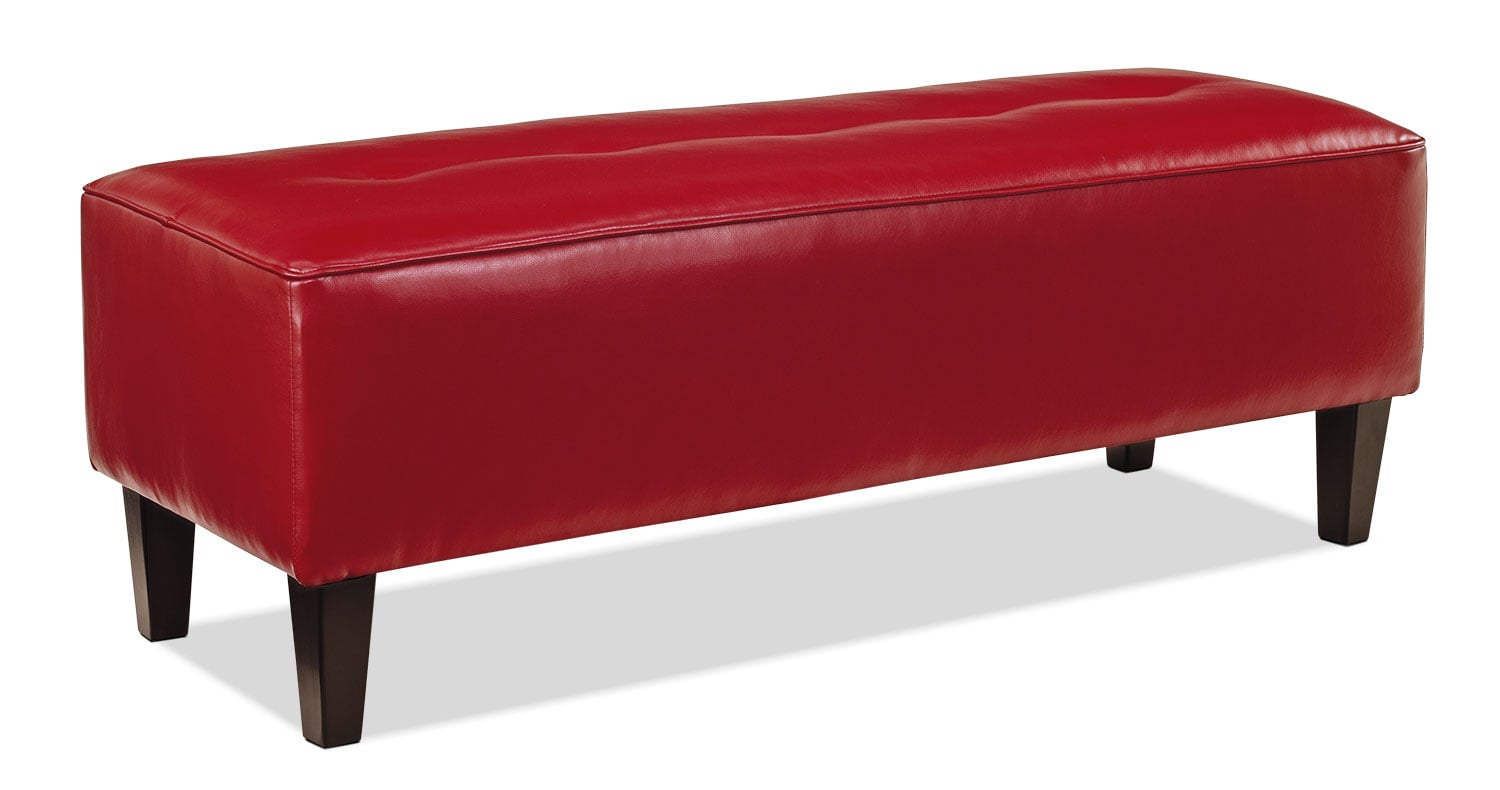 Accent and Occasional Furniture - Ocilla Ottoman – Red