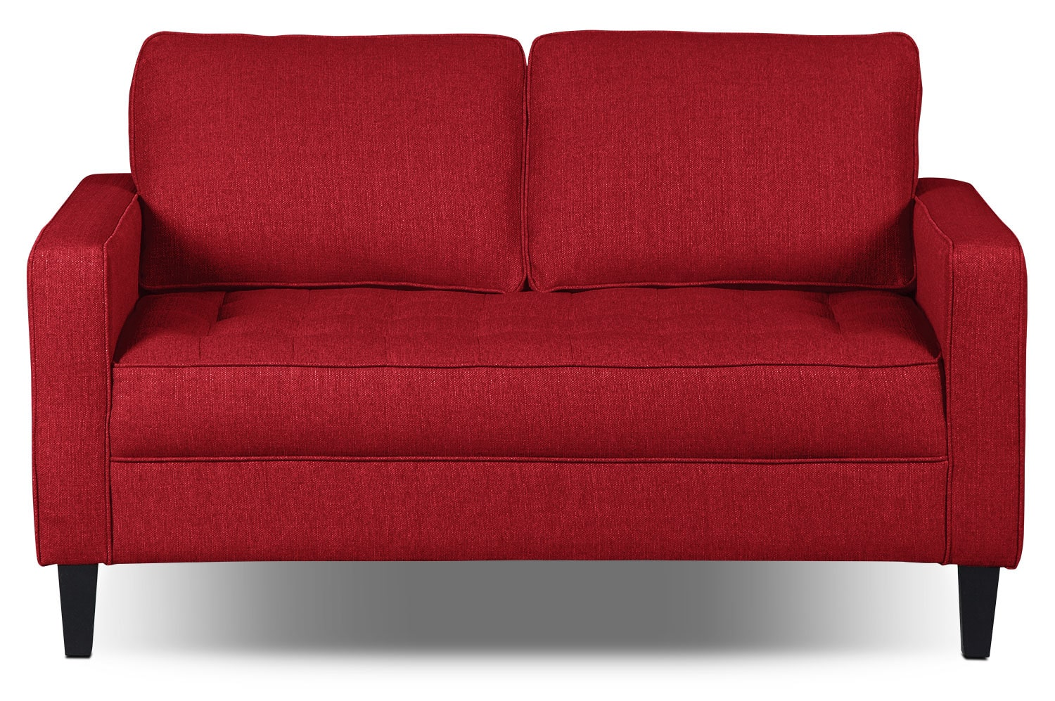 Paris Linen-Look Fabric Loveseat – Cherry