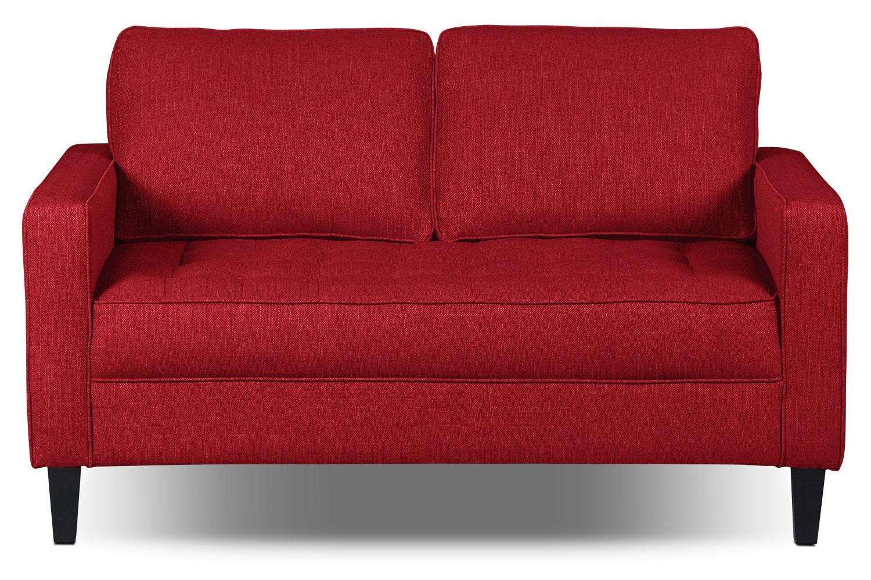 Living Room Furniture - Paris Linen-Like Fabric Loveseat – Cherry