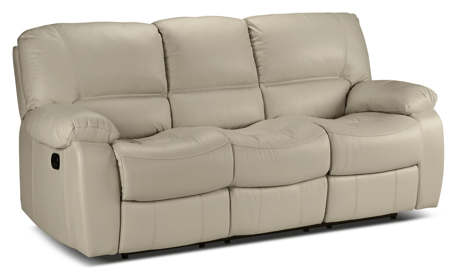 Living Room Furniture - Piermont Reclining Sofa - Silver Grey