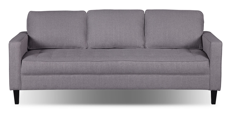 Paris Linen-Look Fabric Sofa – Stone
