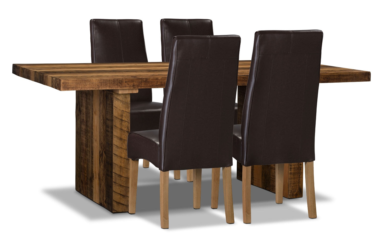 Dining Room Furniture - Colby 5-Piece Dining Package – Brown