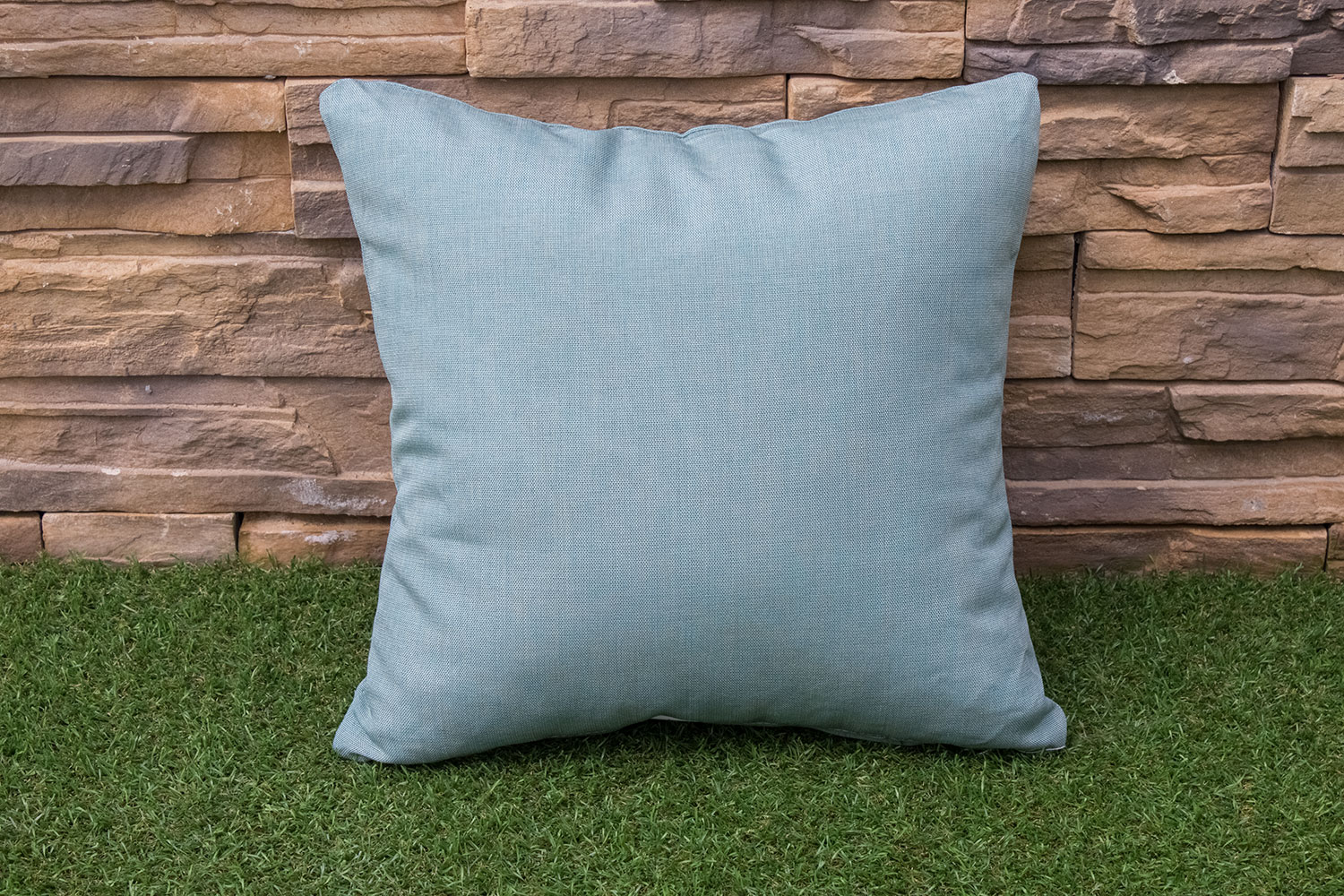 Outdoor Furniture - Shaw Square Throw Pillow - Blue