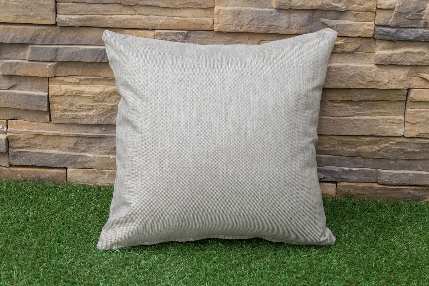 Shaw Square Throw Pillow - Beige