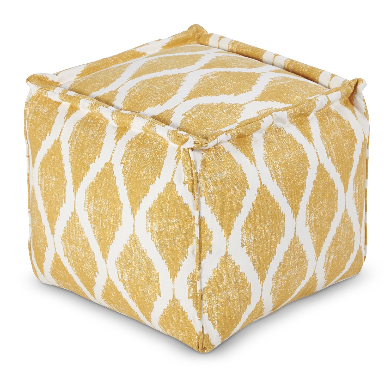 Accent and Occasional Furniture - Fionn Pouf – Yellow
