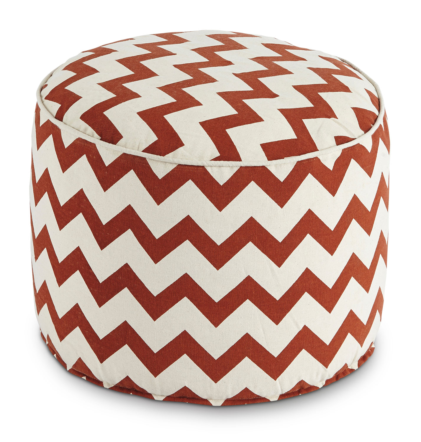 Accent and Occasional Furniture - Tillie Pouf – Rust