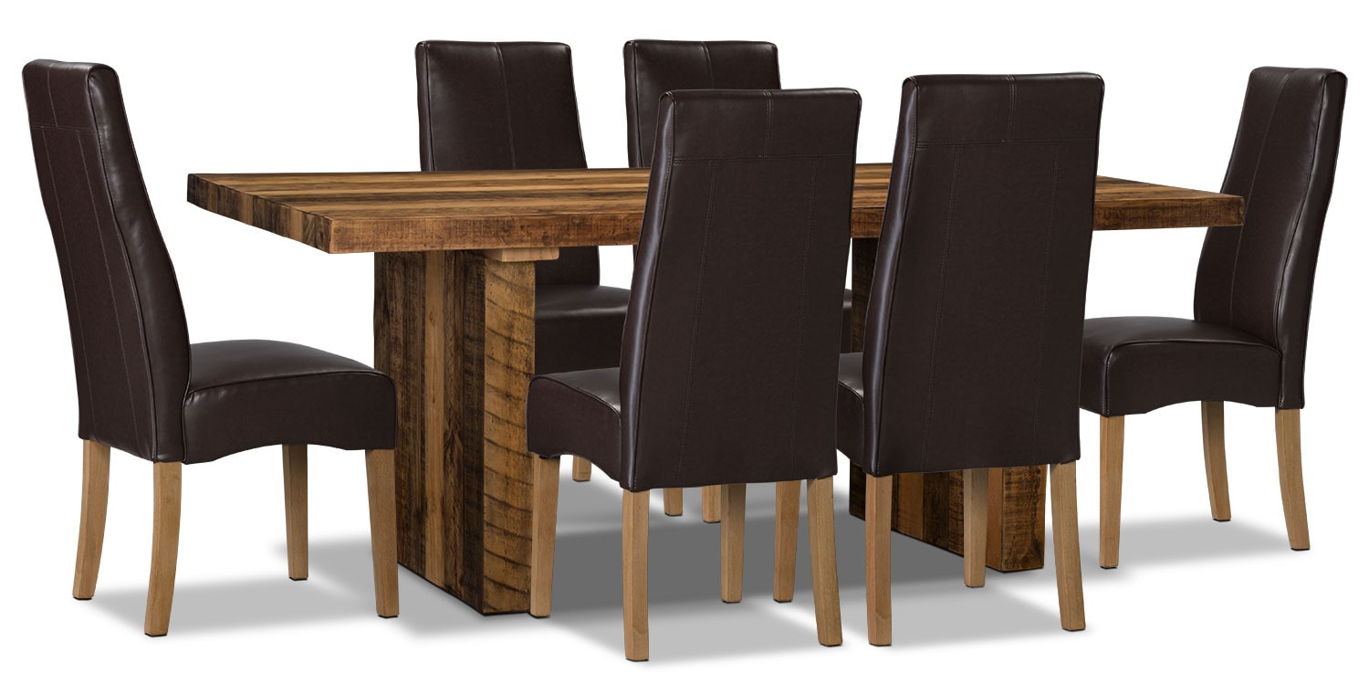 Dining Room Furniture - Colby 7-Piece Dining Package – Brown