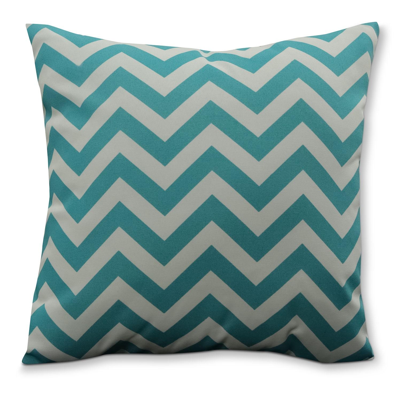 Ziggy Teal Outdoor Accent Pillow
