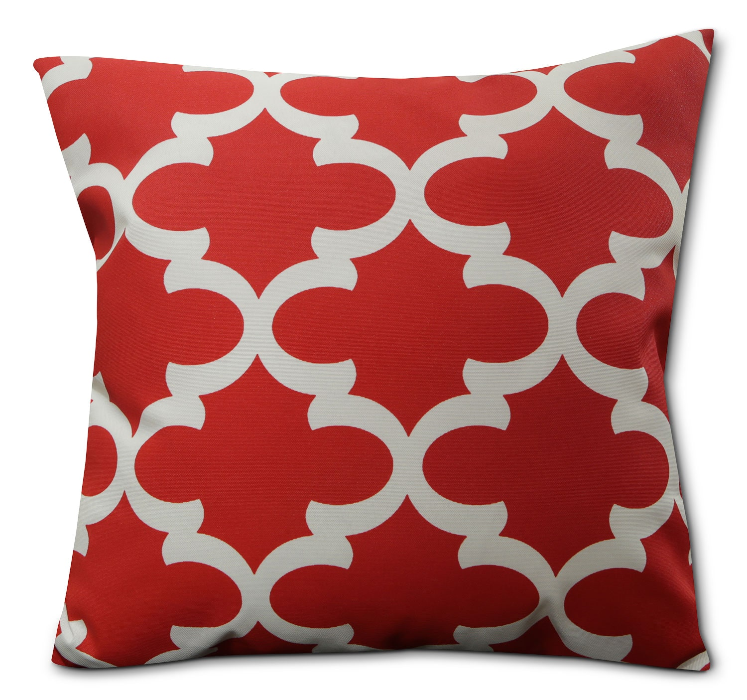 Red Geo Outdoor Accent Pillow
