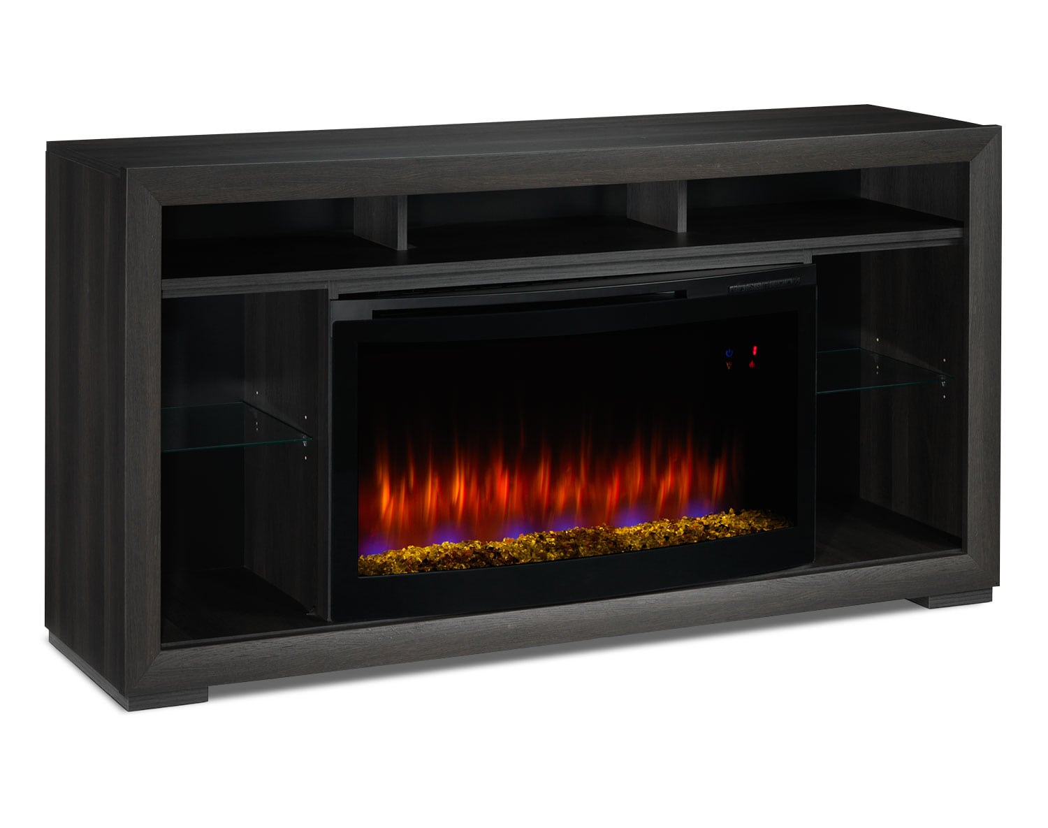 [Manor Fireplace Credenza with Contemporary Insert]