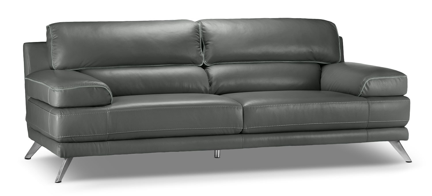 Living Room Furniture - Sutton Sofa - Charcoal Grey