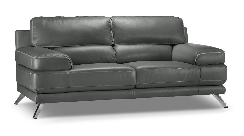 Sutton Loveseat Charcoal Grey Leon 39 S