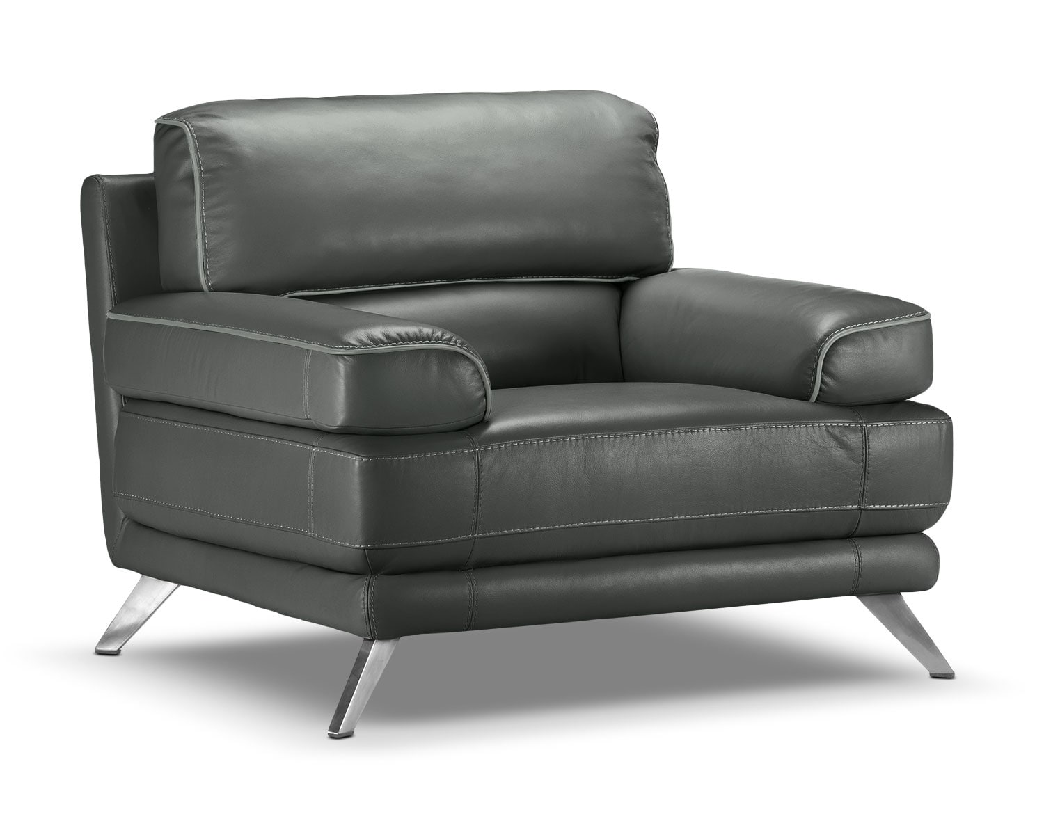 Living Room Furniture - Sutton Chair - Charcoal Grey