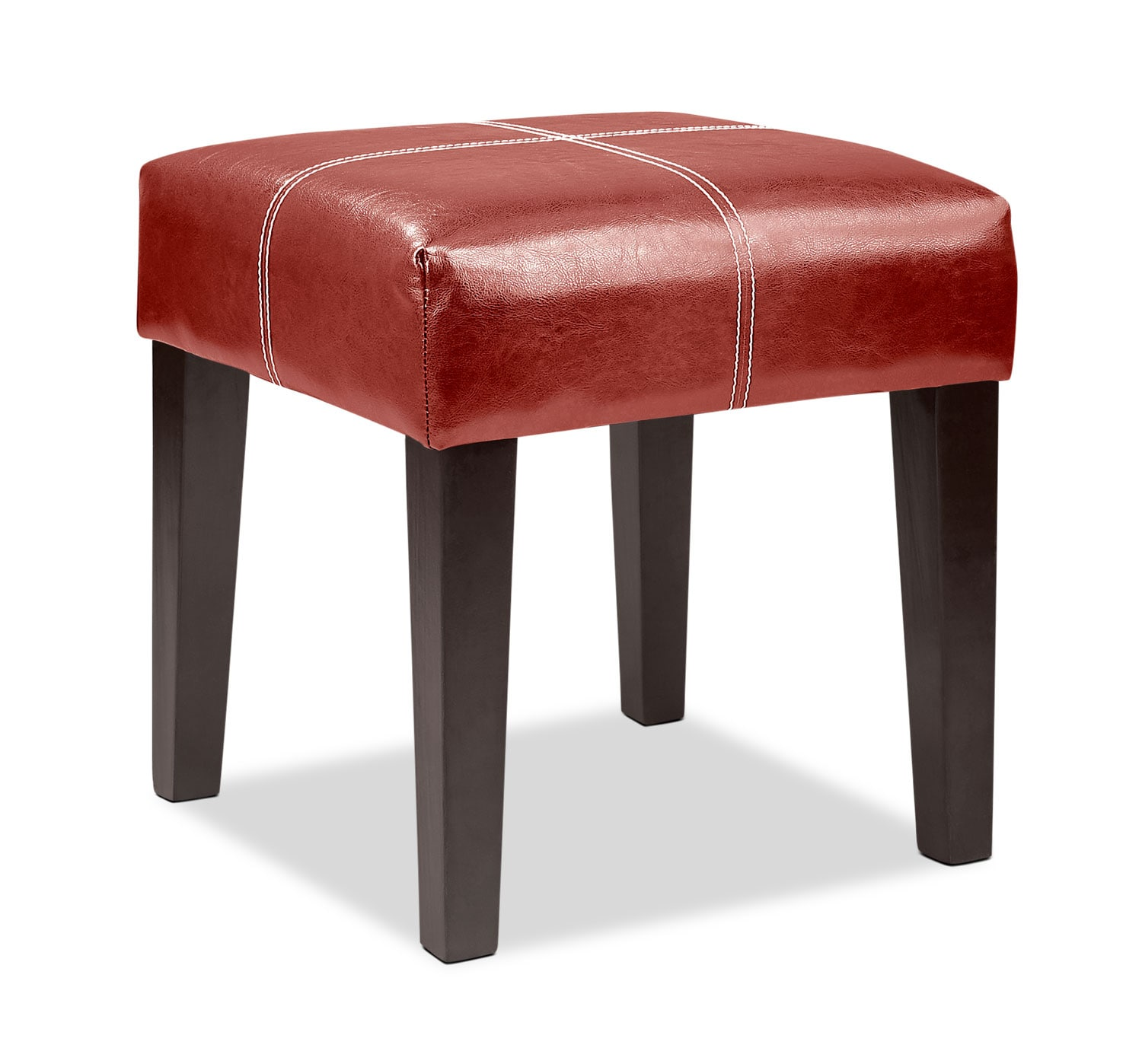 Accent and Occasional Furniture - Lane Ottoman - Red