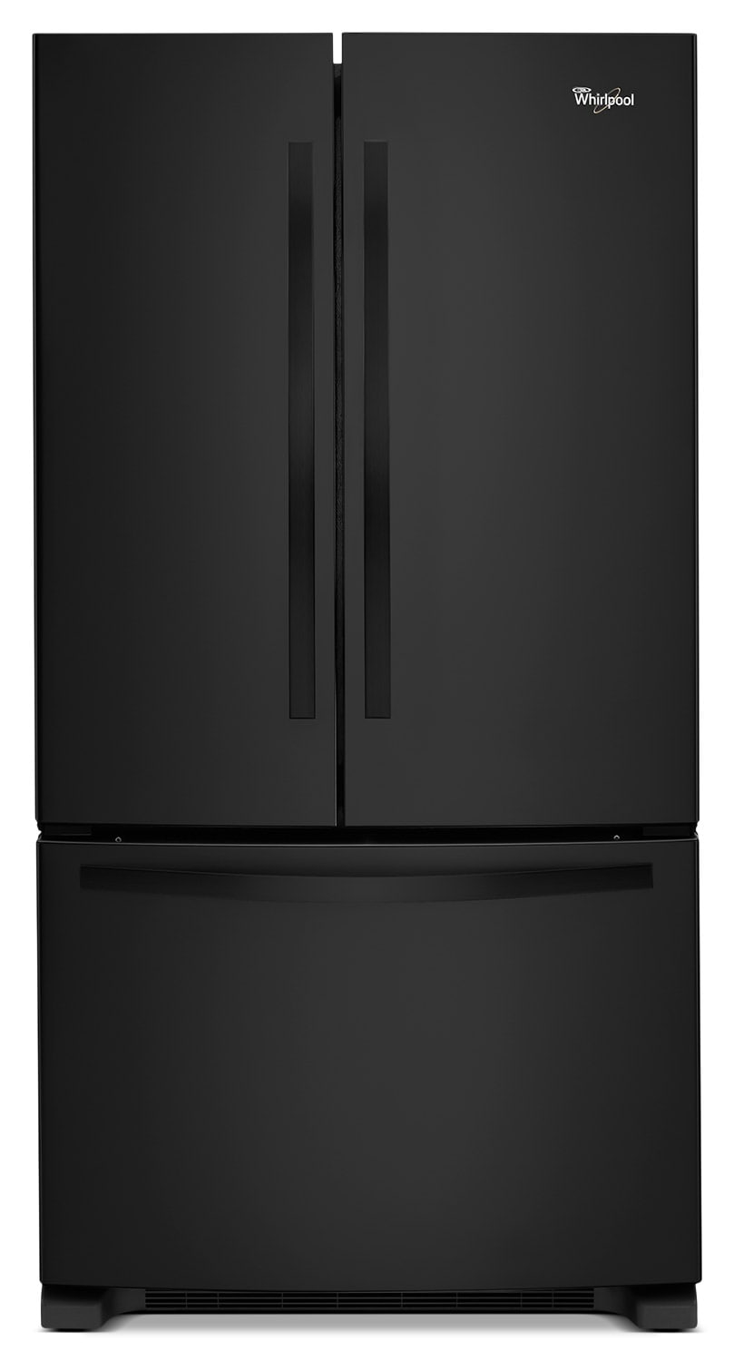 Refrigerators and Freezers - Whirlpool Black French Door Refrigerator (22 Cu. Ft.) - WRF532SNBB