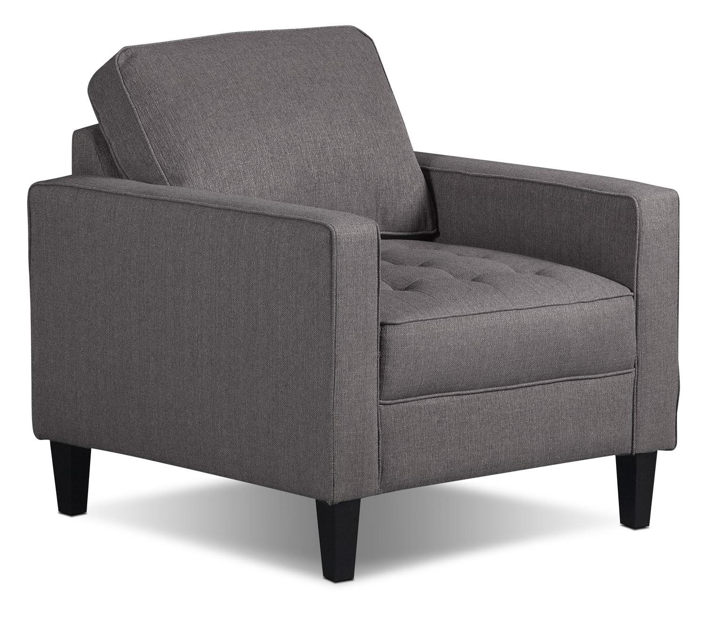 Paris Linen Look Fabric Chair – Granite