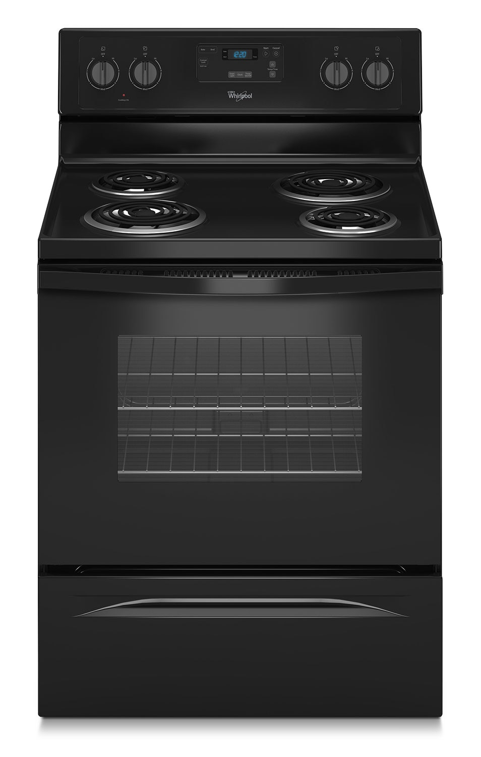 Cooking Products - Whirlpool Black Freestanding Electric Range (4.8 Cu. Ft.) - YWFC150M0EB