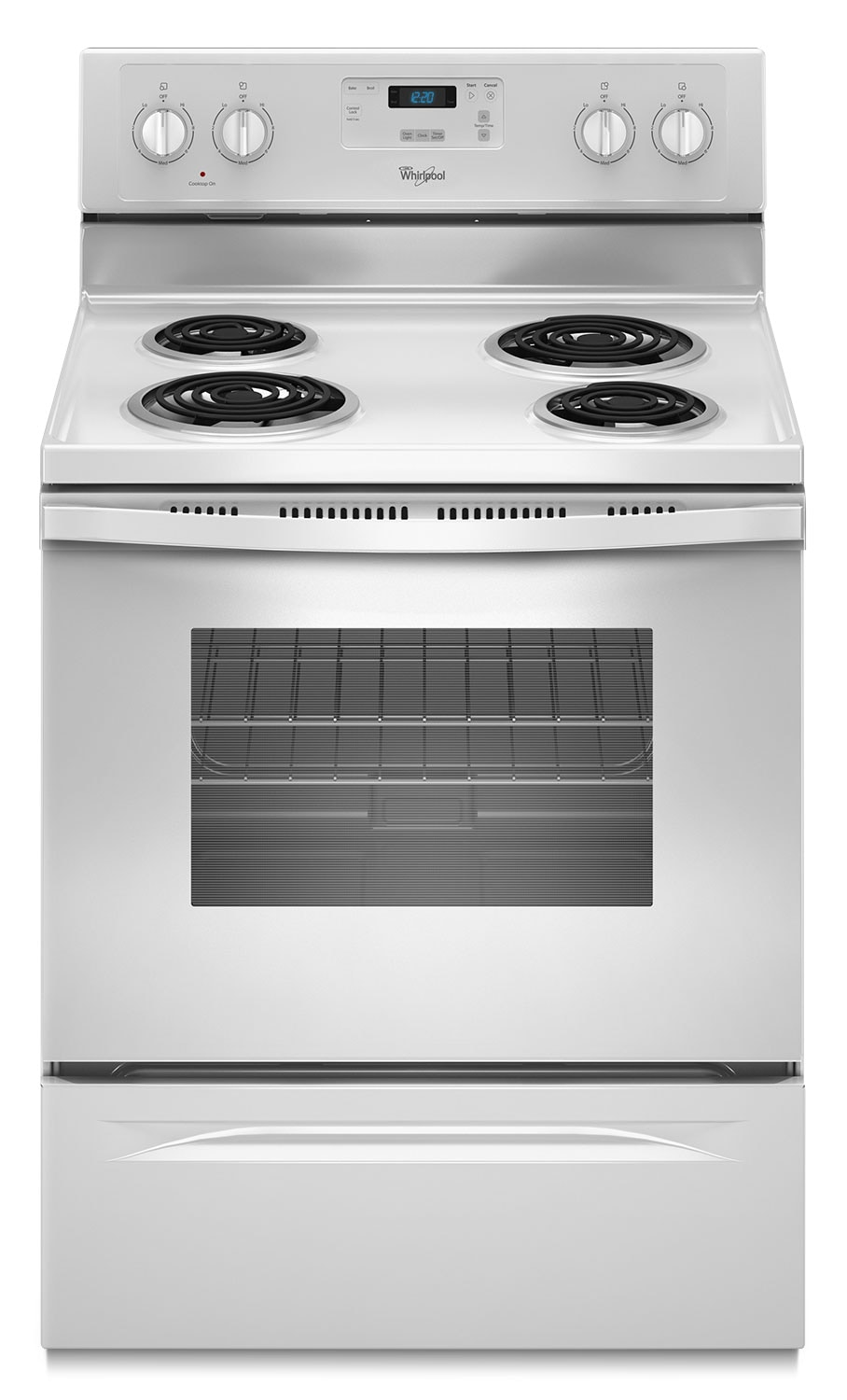 Electric Kitchen Stoves ~ Whirlpool white freestanding electric range cu ft