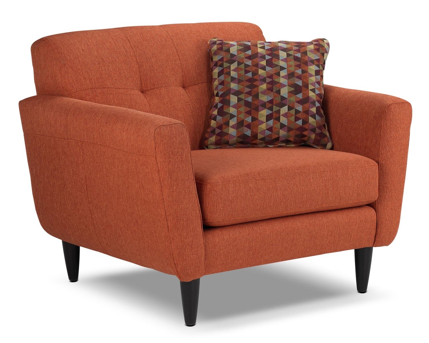 Cobra chair and a half orange leon39s for Orange living room chairs