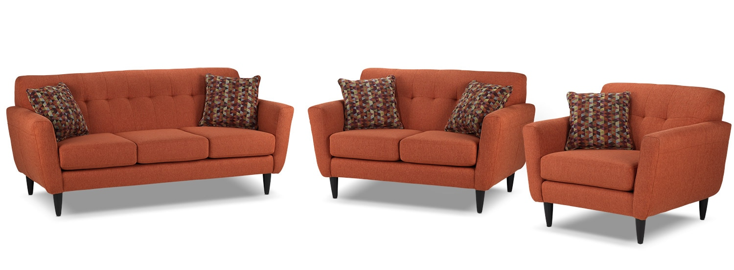 Cobra Sofa, Loveseat and Chair  Set