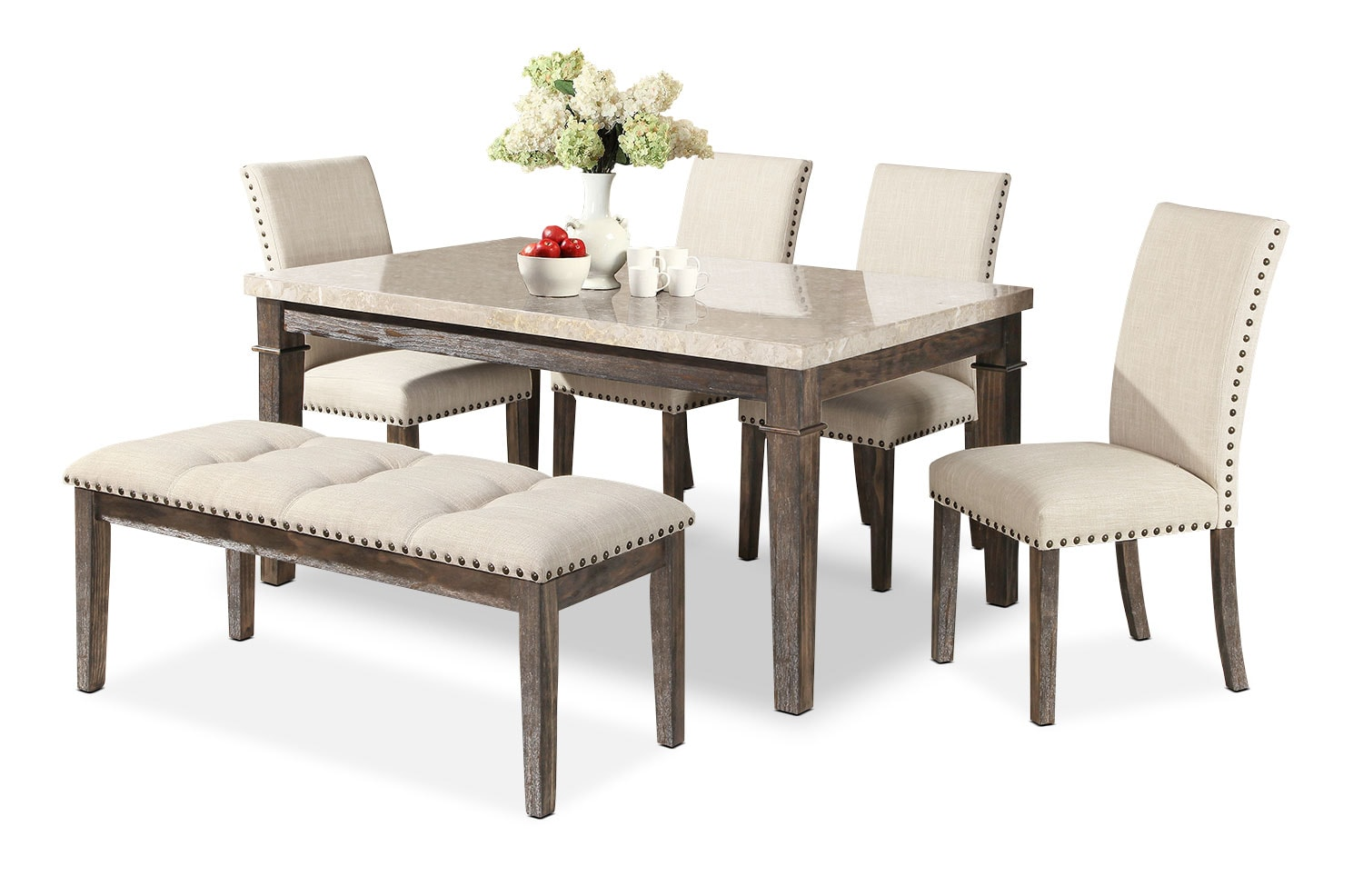 Aldo 6 piece dining package the brick for Dining room tables the brick