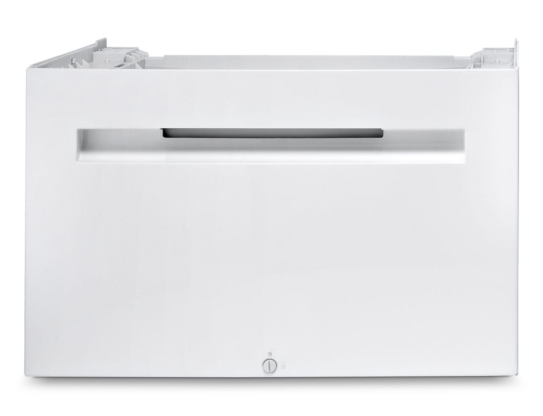 Appliance Accessories - Piédestal pour sécheuse Bosch avec tiroir de rangement - blanc