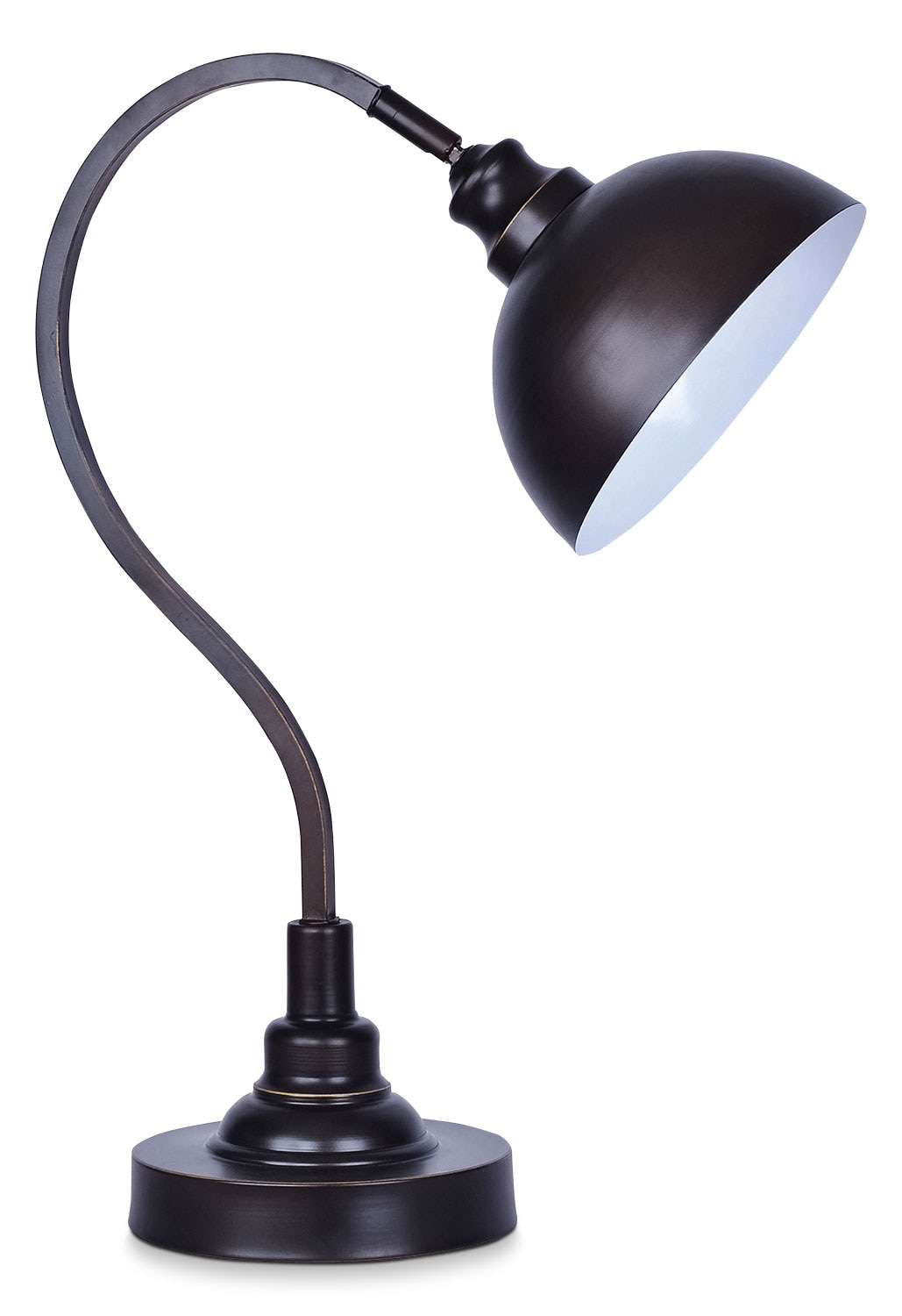 oil rubbed bronze task table lamp united furniture warehouse. Black Bedroom Furniture Sets. Home Design Ideas