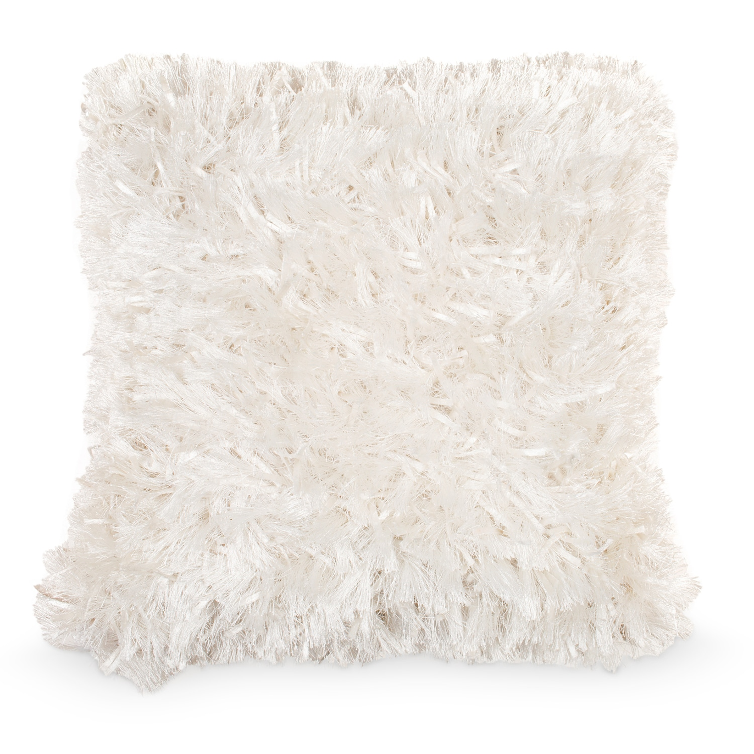 Shag Accent Pillow – Ivory