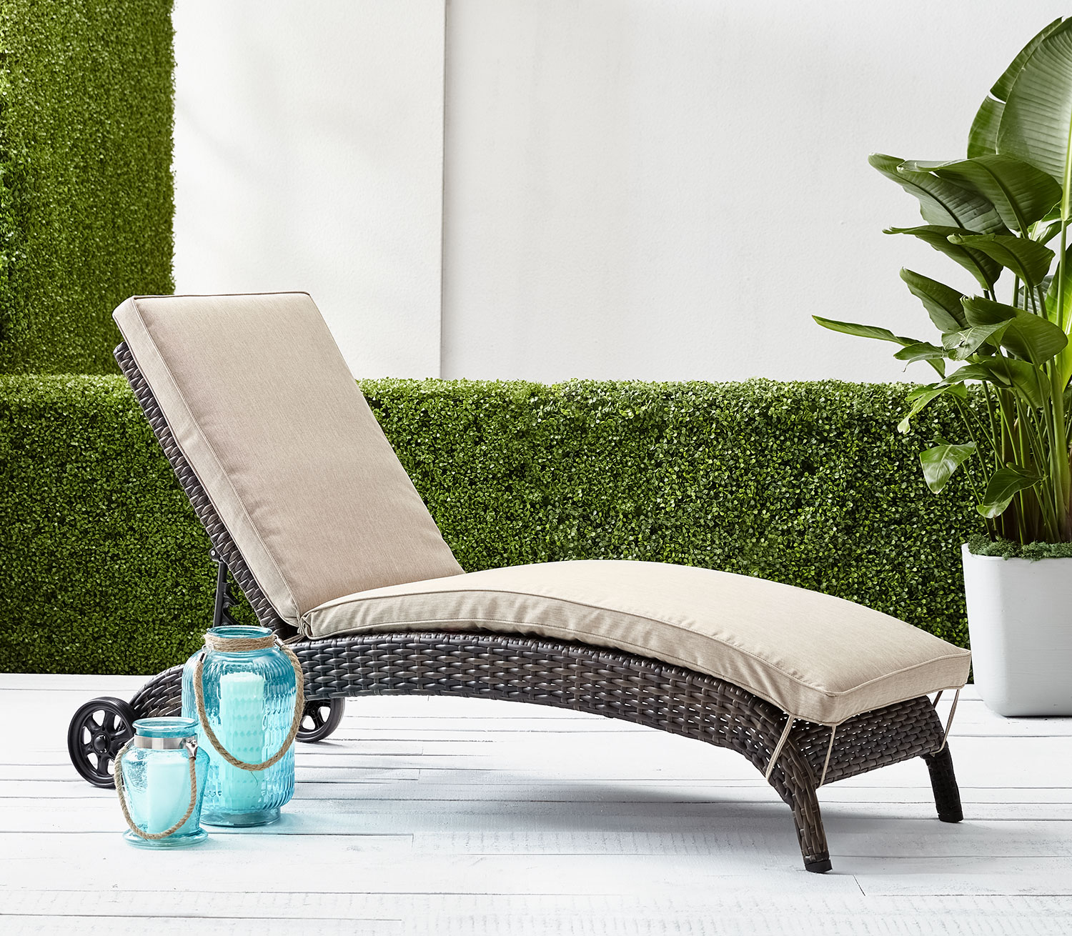 Outdoor Furniture - Appia Chaise Lounge - Beige