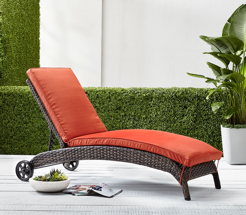 Outdoor Furniture - Appia Chaise Lounge - Orange