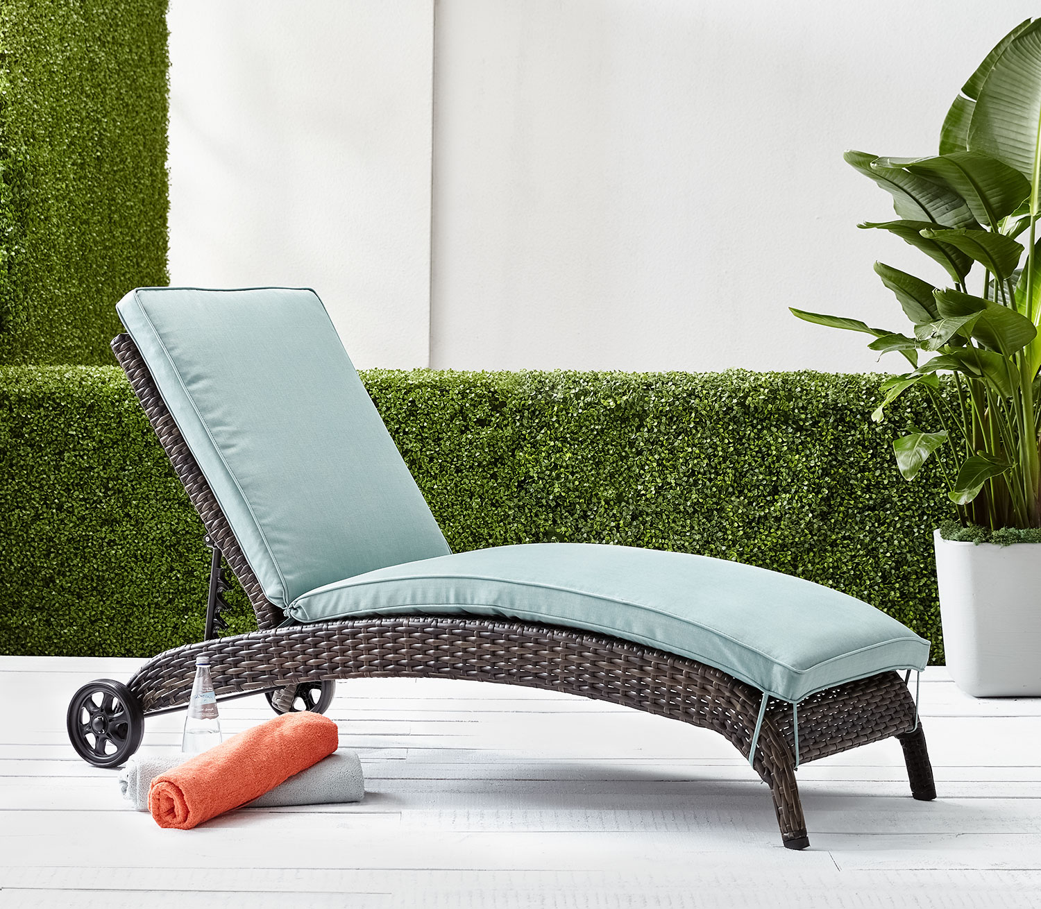 Outdoor Furniture - Appia Chaise Lounge - Blue