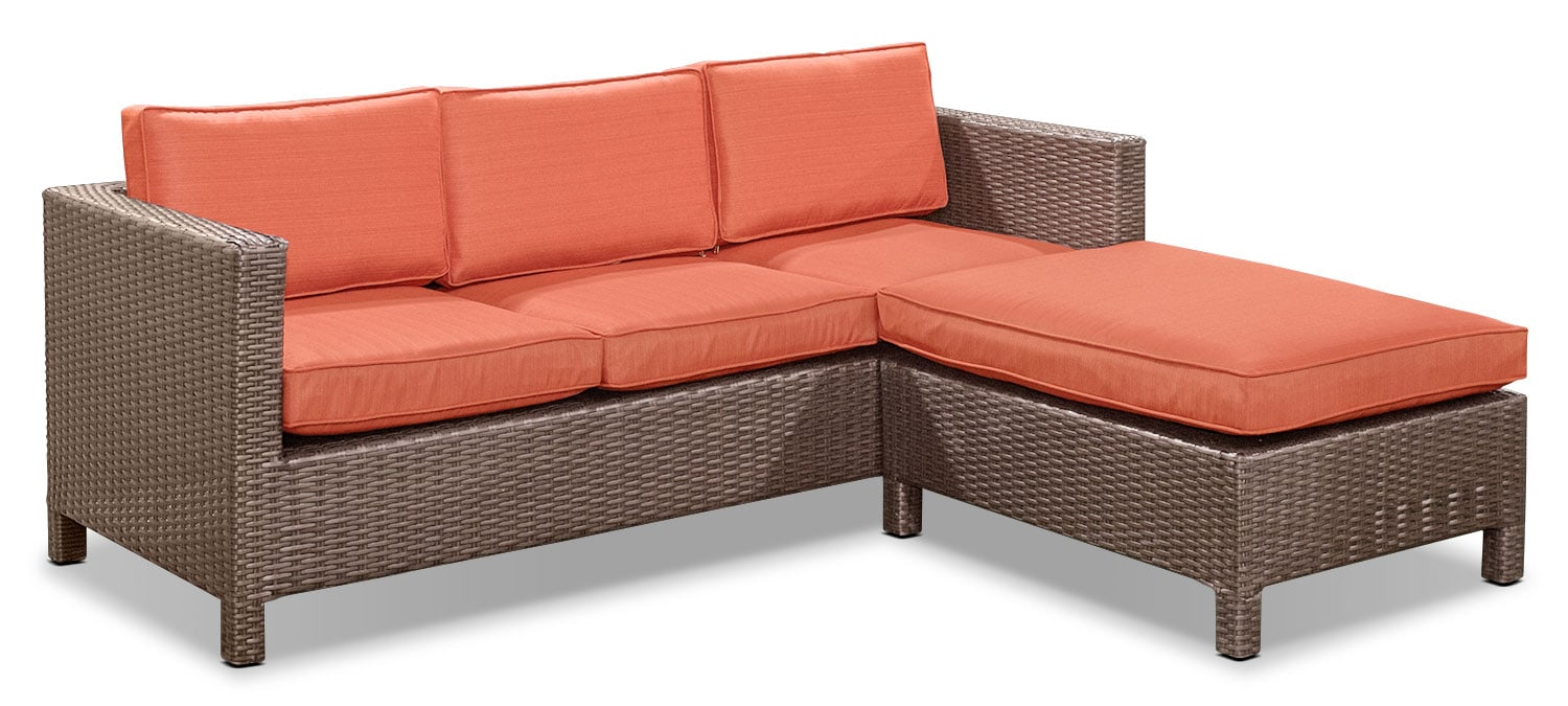 Pompano Patio Chaise Sofa