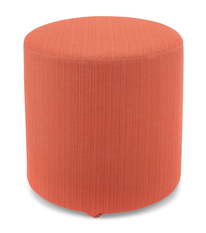 Renee Round Ottoman - Orange