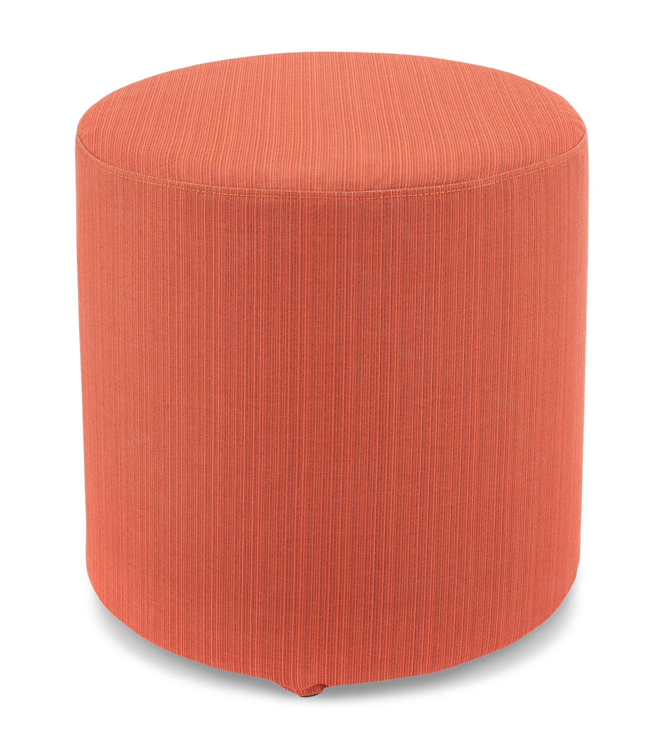 Outdoor Furniture - Renee Round Ottoman - Orange