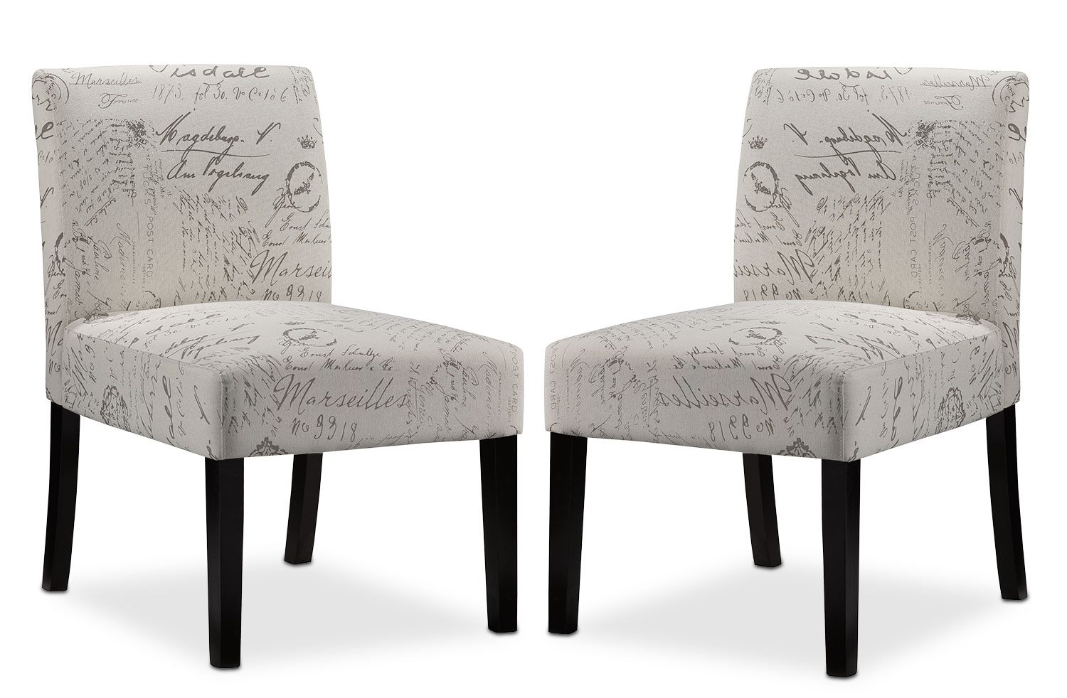 Living Room Furniture - Mariette 2-Piece Accent Chair Set