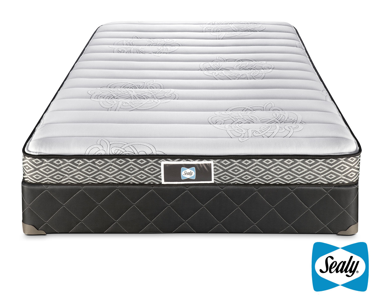 Sealy Glacier Firm Queen Mattress and Boxspring Set